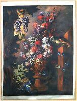 Edizioni Beatrice D'Este n.1286 -  Fiori - Flowers - Stampa su Seta - Print silk