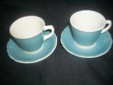 Vintage Syracuse China~BLUE & WHITE Coffee /TeaCups/Demitasse Cups/Saucers