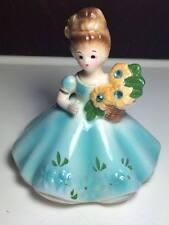 Vintage Giftcraft ceramic flower girl figurine made in Japan