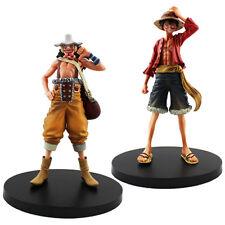 "2pcs Set One Piece New World Luffy & Usopp 15cm / 6"" PVC Figure New In Box"