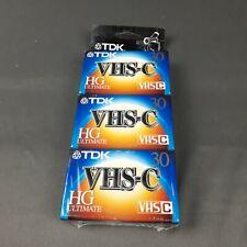 Lot of (5) TDK VHS-C HG  VHS Camcorder Recording Tapes