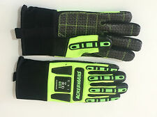 Hi Vis Impact Gloves Hand Protection Mechanics High Performance Safety Gloves