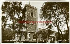 REAL PHOTOGRAPHIC POSTCARD OF THE PARISH CHURCH ST. MARY, WATFORD, HERTFORDSHIRE