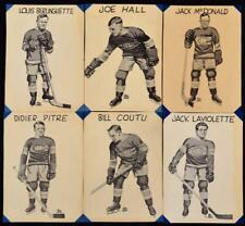6- 1917 Montreal Canadiens Calendar Photos Joe Hall Jack Laviolette Didier Pitre