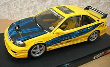 Hot Wheels Honda Civic Exclusive Super Street Edition Yellow Car Die-Cast 1:18