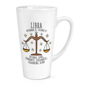 Libra Horoscope 17oz Large Latte Mug Cup - Astrology Star Sign Zodiac Birthday