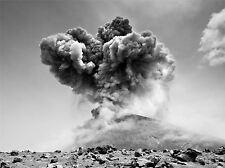 Impresión Poster Foto Paisaje erupción del volcán Indonesia anak krakatau lfmp1281