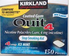 Kirkland  Quit 4 mg coated ice mint Gum Nicotine Polacrilex Stop Smoking Aid 150