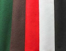 Felt fabric in Christmas colours 5 sheets 30cmx23cm red black white green brown