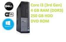 Dell 7010 Desktop i3 3rd Gen PC Computer - 4GB RAM - 250GB HDD Windows 10 Pro
