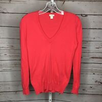 J Crew Womens Long Sleeve V Neck Pink Sweater Size Small