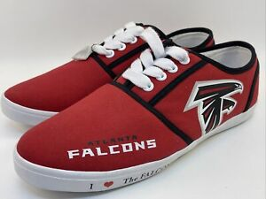 I Love The Falcons Women's Shoes Atlanta Falcons Canvas Sneakers football SZ 9