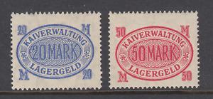 Germany, Hamburg, 1918 Harbor Fee revenue, 20M & 50M Lagergeld values, MLH, F-VF