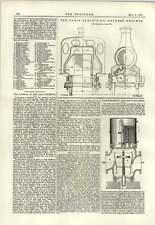1889 Diaconi CONTATORE ACQUA MOTORI Express Parigi Exhibition Plan