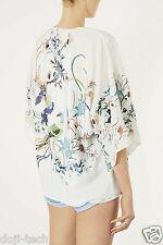 BNWT Topshop Premium Bird Floral Vtg Kimono Jacket Cardigan Shawl 10 8 12 38 US6