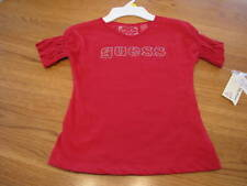 Guess Jeans girls youth red shirt medium M 5/6 NWT ^^