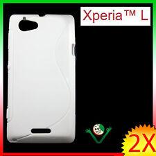 Pellicola+ Custodia flessibile SOFT WAVE BIANCA per Sony Xperia L lucido/opaco
