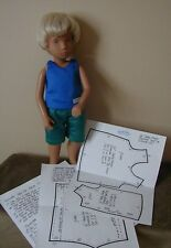 "Reversible Tank Top/Shorts Pattern 16Sg01 For 16"" Sasha & Gregor Dolls"
