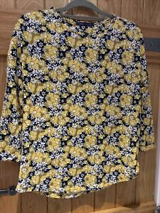 M&S Collection Yellow Daisy Print Top Size 12