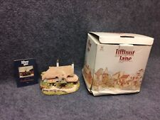 Lilliput Lane Periwinkle Cottage w/ Box Has Chip Box Damaged