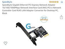 Speedbyte Gigabit Ethernet PCI Express Network Adapter 10/100/1000Mbps Interface