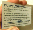 2 Miranda Warning/Rights Card for Law Enforcement (Police/Sheriff/Trooper)
