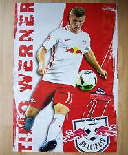 "Poster ""Bereits über 130 Bundesligaspiele"" RB Leipzig 's Timo Werner"