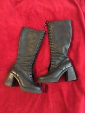 ALDO Black Leather Knee High Boots Size 8