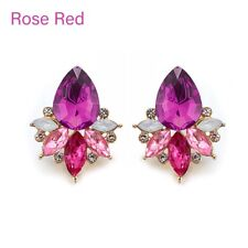 Elegant Acrylic Crystal Stone Stud Earrings Rhinestone Piercing Earring Jewelry