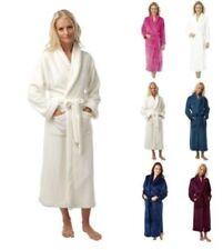 Bodenlange Damen-Nachtwäsche im Bademantel-Stil aus Polyester
