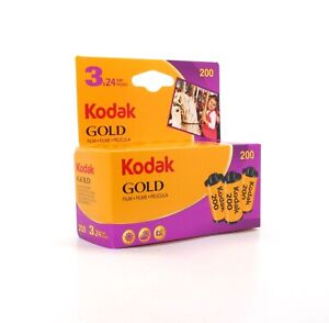 Pack of three Kodak Gold 200 35mm Colour with 24 photos on each roll - New stock