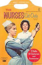 Vintage Uncut 1963 Tv Nurses Paper Dolls ~Whitman~Org Sz~Laser Reproduction No1