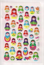 3D Pegatinas RUSSIAN MATRYOSHKA Nesting Dolls Artesanía Adornos Scrapbooking