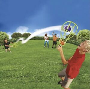 Crazy Curve Track Trac Ball Toss n Catch Racket Yard Game Toy Outdoor Family Fun