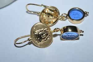TAGLIAMONTE 925SSYGPL*EARRINGS*MEDUSA CAMEO*FESTIVAL PAYING HOMAGE TO ZEUS