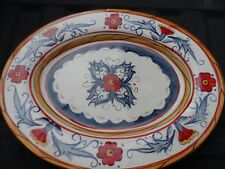 "Tabletops Gallery Italiano Large 17"" Oval Meat or Serving Platter Euc 2 avail."