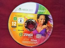 ZUMBA WORLD PARTY XBOX 360 KINECT - DISC ONLY IN EXCELLENT CONDITION
