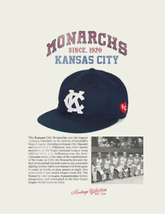 Kansas City Monarchs Negro League Baseball Hat Wool Negro League Baseball Cap