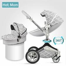 HOT MOM 3 in 1 TRAVEL SYSTEM - STROLLER, PUSHCHAIR, PRAM, NEW 2020 MODEL