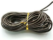 32.8 feet Coffee Round Real Genuine Leather Jewelry Cord 3mm