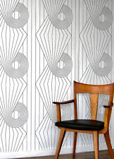 Wallpaper by Erica Wakerly Collection spiral Black/White