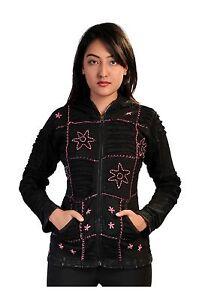 Tattopani Ladies stonewashed & crochet razor cut cotton cardigan with patchwork
