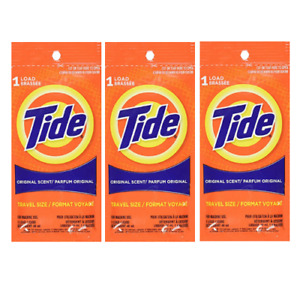 NEW - Tide - Single Liquid Load Travel Size - 3 Pack - FREE SHIPPING