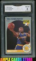 1990 HOOPS #113 TIM HARDAWAY RC ROOKIE GRADED GMA 8 NM-MT ~ PSA 8?