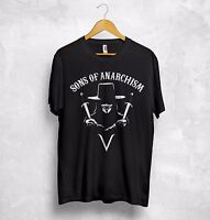 V for Vendetta T Shirt Sons of Anarchism Anarchy Anonymous 4chan Hacktivism