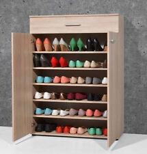 Armoire meuble à chaussures chêne sonoma avec 2 portes et 1 tiroir