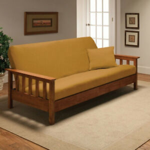 (Yellow) - Stretch Jersey Full Futon Cover in Yellow. Madison Home. Best Price