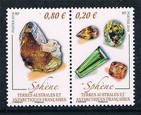 French Antarctic/TAAF 2016 Minerals 2v MNH