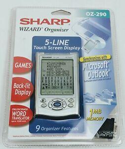 Sharp Wizard Organizer 5 Line Touch Screen Display OZ-290 Translator Memory Game