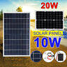 12V/5V Flexible 10W/20W Solar Panel Battery Car Boat Motorcycle Charger Portable